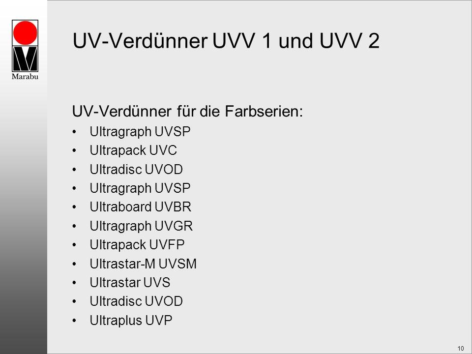 UV-Verdünner UVV 1 und UVV 2