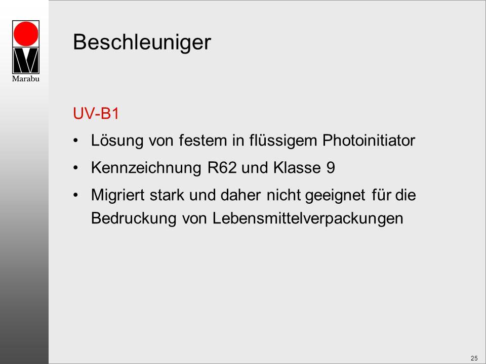 Beschleuniger UV-B1 Lösung von festem in flüssigem Photoinitiator