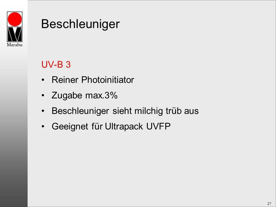 Beschleuniger UV-B 3 Reiner Photoinitiator Zugabe max.3%