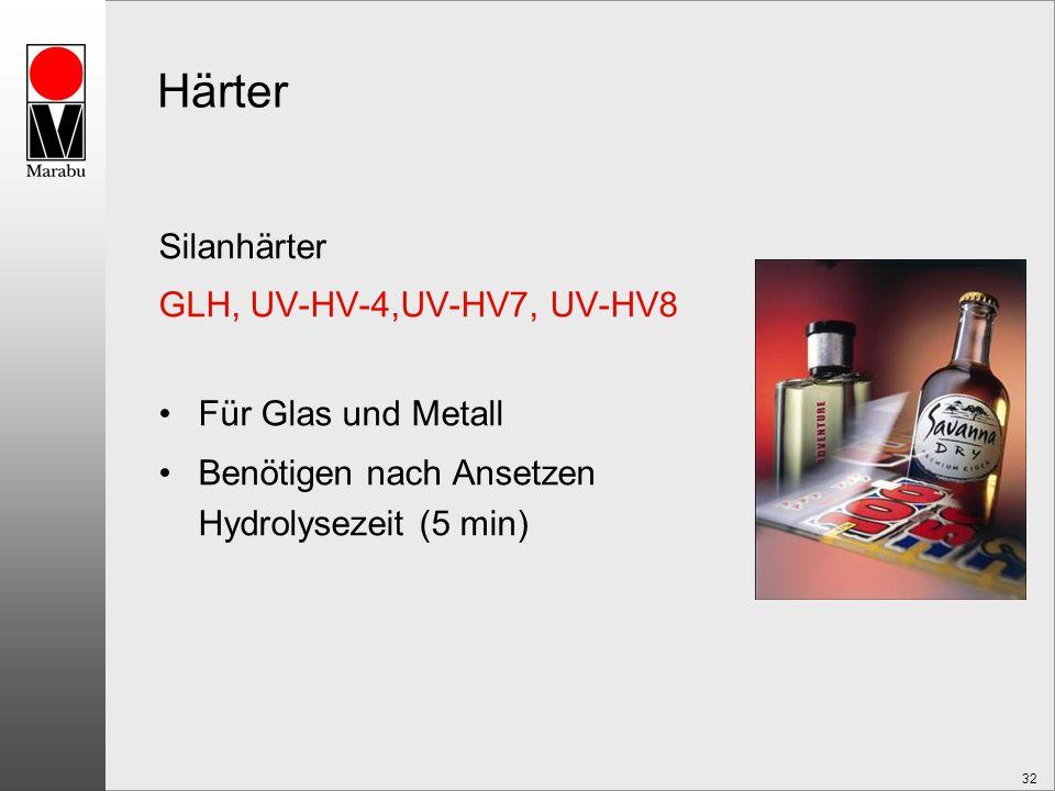 Härter Silanhärter GLH, UV-HV-4,UV-HV7, UV-HV8 Für Glas und Metall