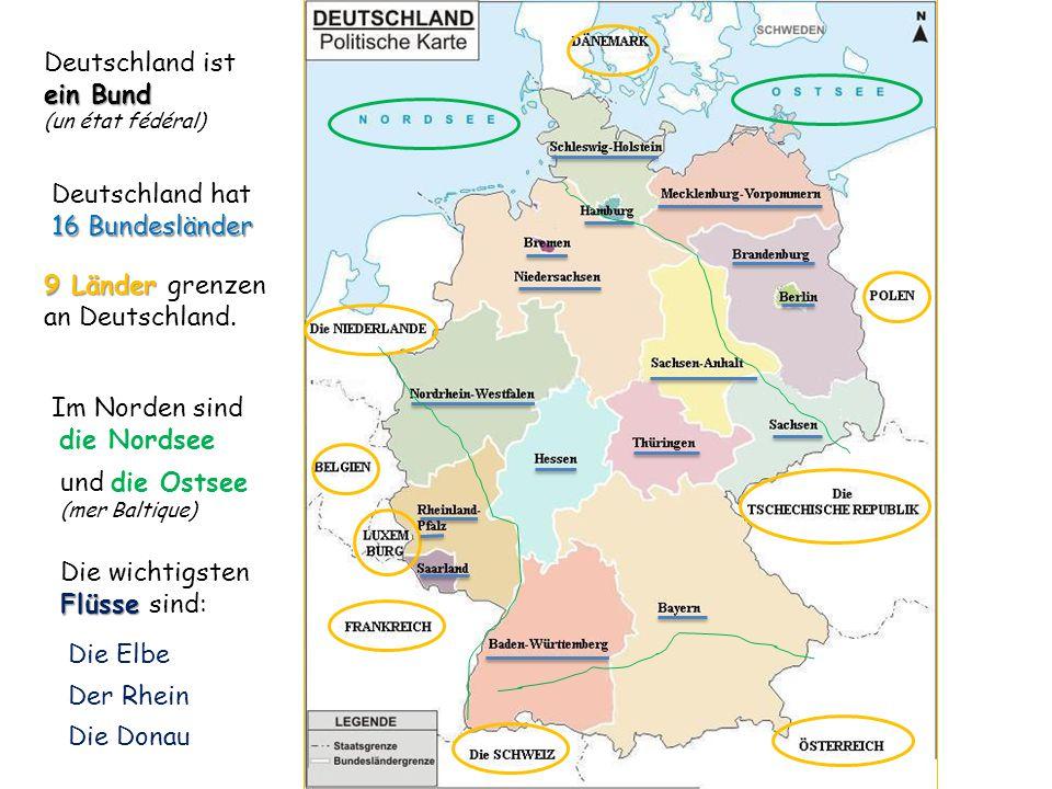 9 Länder grenzen an Deutschland.