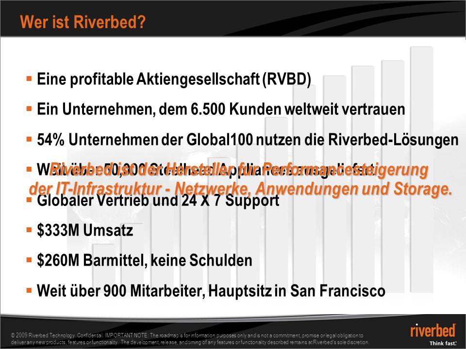 Wer ist Riverbed Eine profitable Aktiengesellschaft (RVBD) Ein Unternehmen, dem 6.500 Kunden weltweit vertrauen.