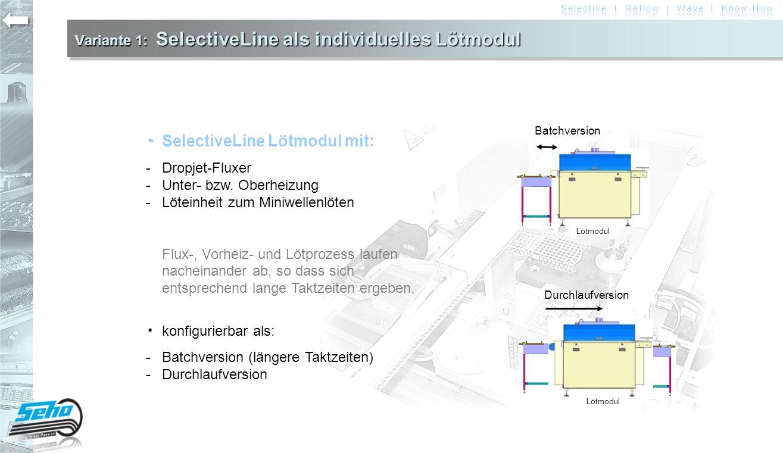 Variante 1: SelectiveLine als individuelles Lötmodul