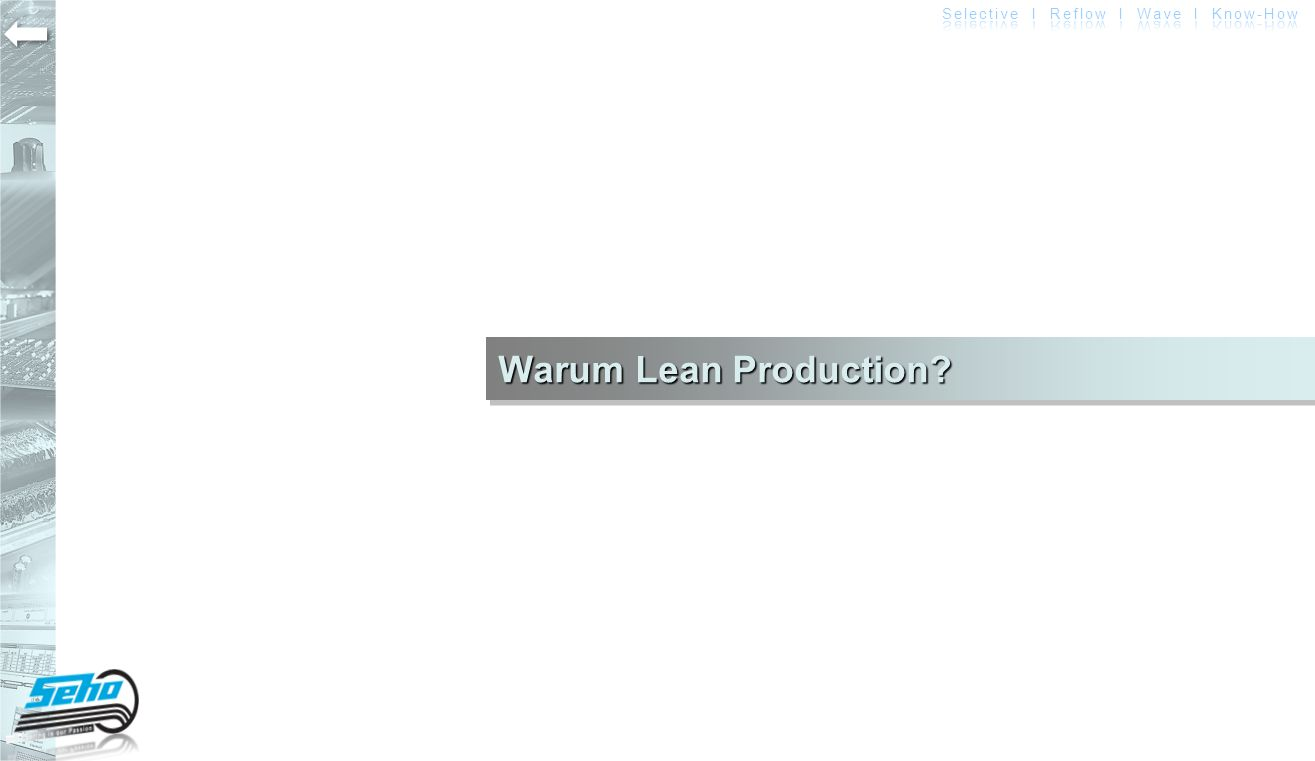 Warum Lean Production