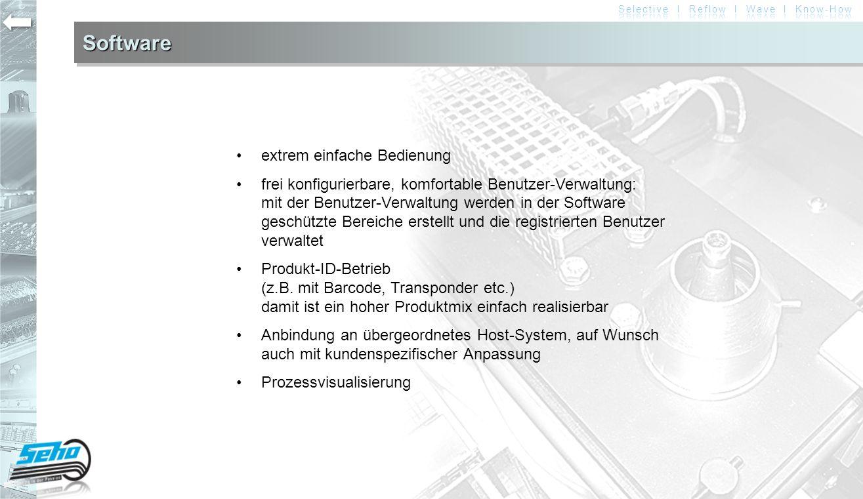 Software • extrem einfache Bedienung