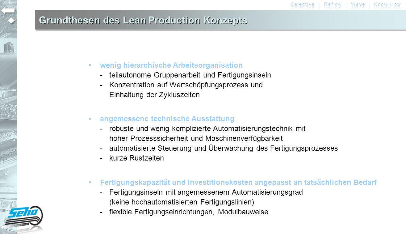 Grundthesen des Lean Production Konzepts