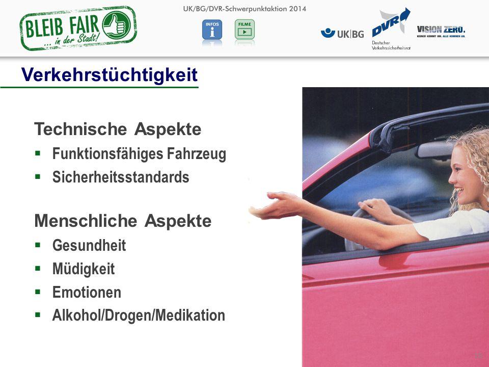 Verkehrstüchtigkeit Technische Aspekte Menschliche Aspekte