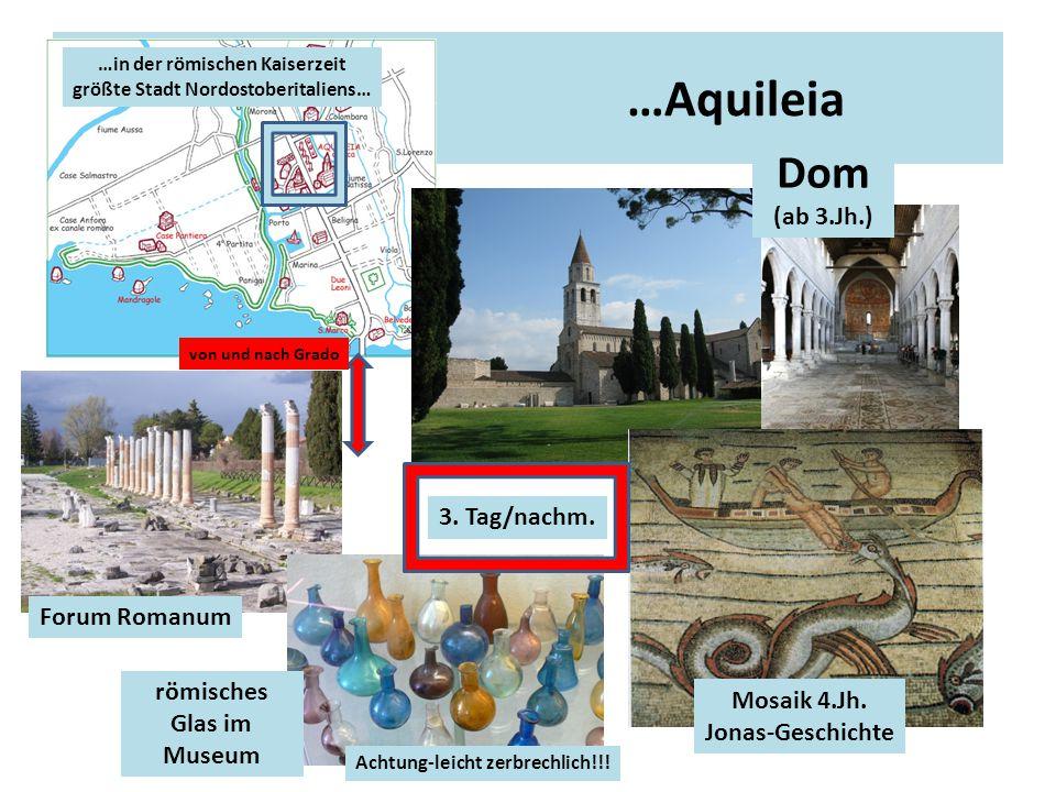 …Aquileia Dom (ab 3.Jh.) 3. Tag/nachm. Forum Romanum