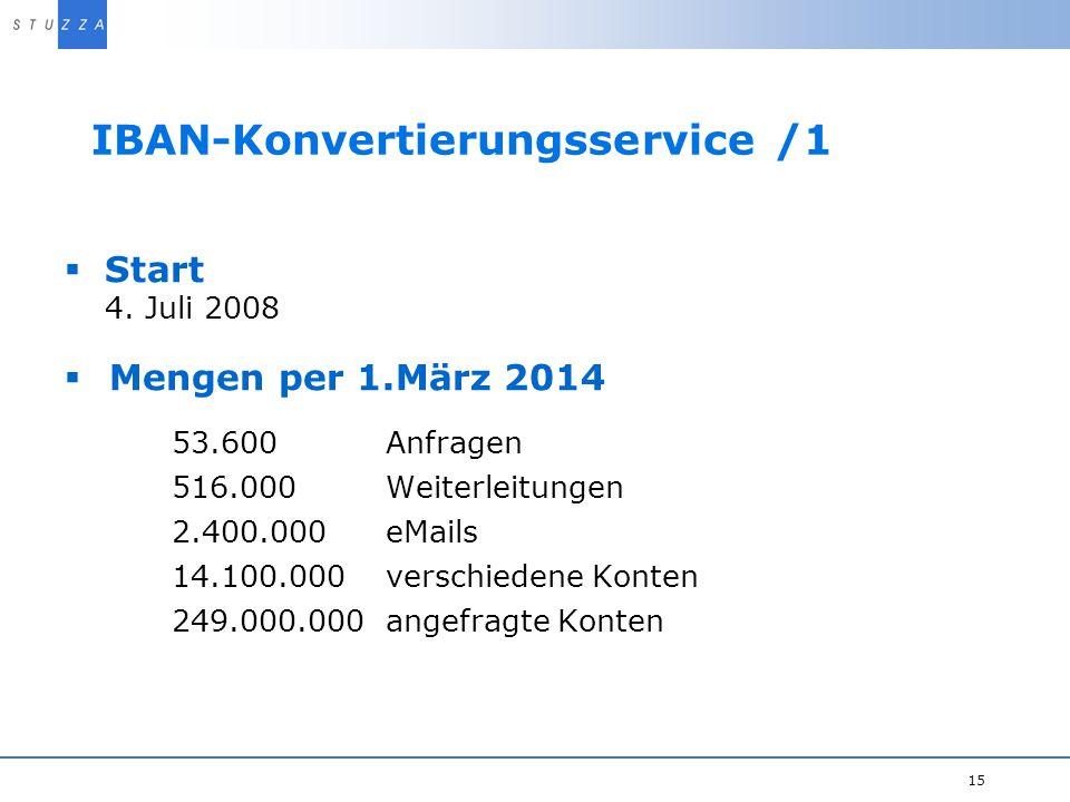 IBAN-Konvertierungsservice /1
