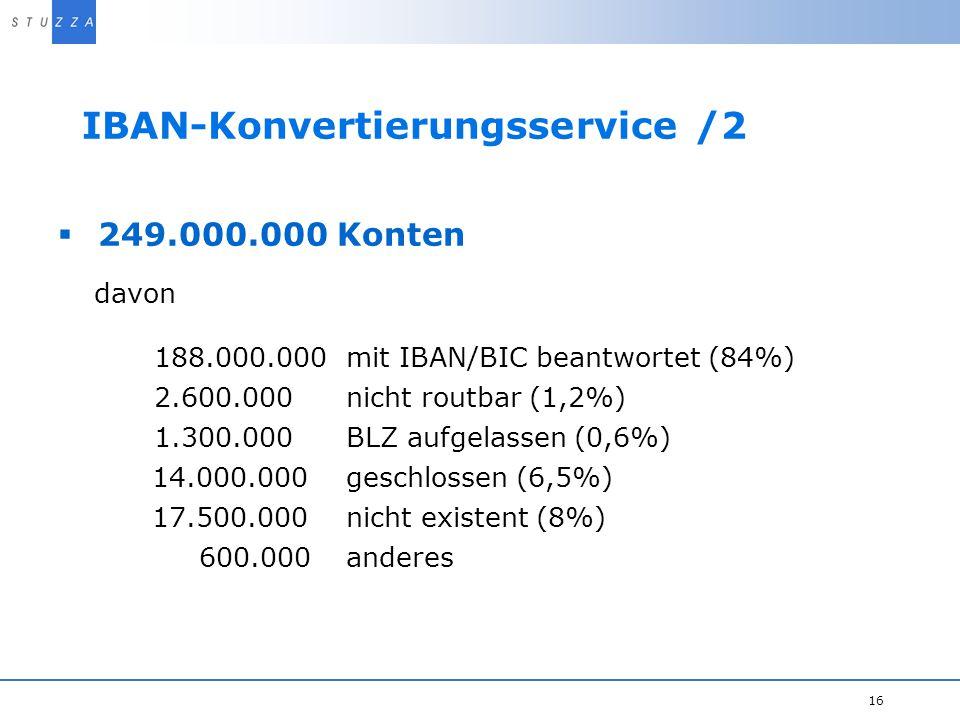 IBAN-Konvertierungsservice /2