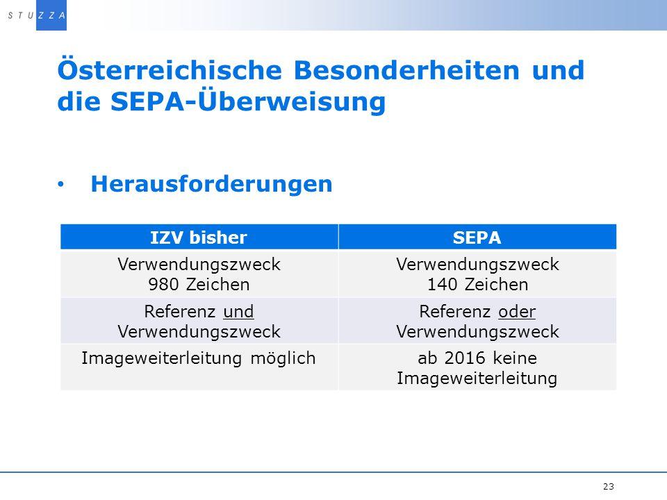 Österreichische Besonderheiten und die SEPA-Überweisung