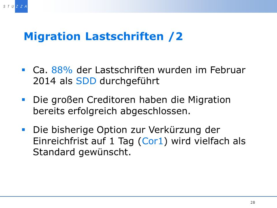 Migration Lastschriften /2