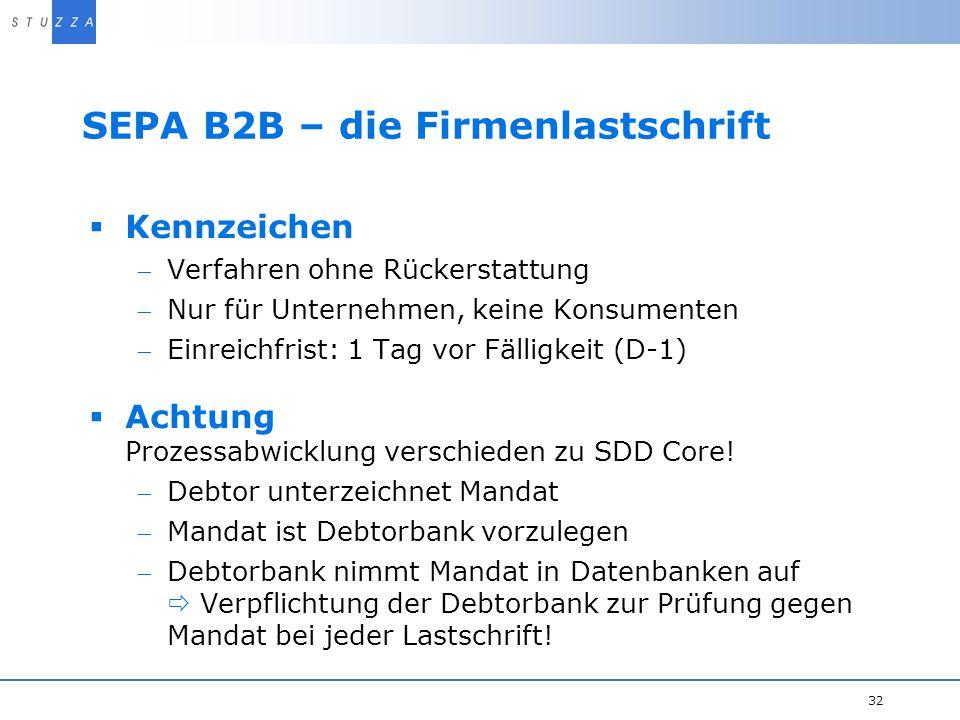 SEPA B2B – die Firmenlastschrift