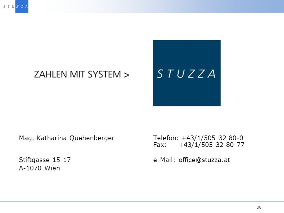 Stiftgasse 15-17 e-Mail: office@stuzza.at A-1070 Wien