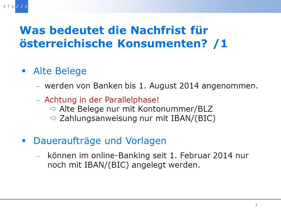 Was bedeutet die Nachfrist für österreichische Konsumenten /1