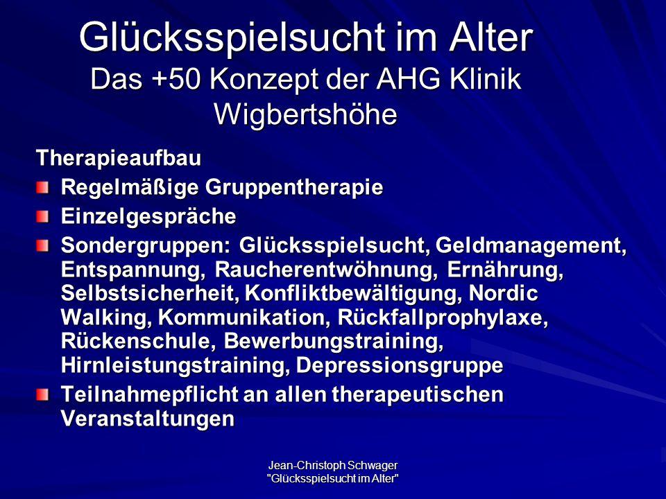 Glücksspielsucht im Alter Das +50 Konzept der AHG Klinik Wigbertshöhe
