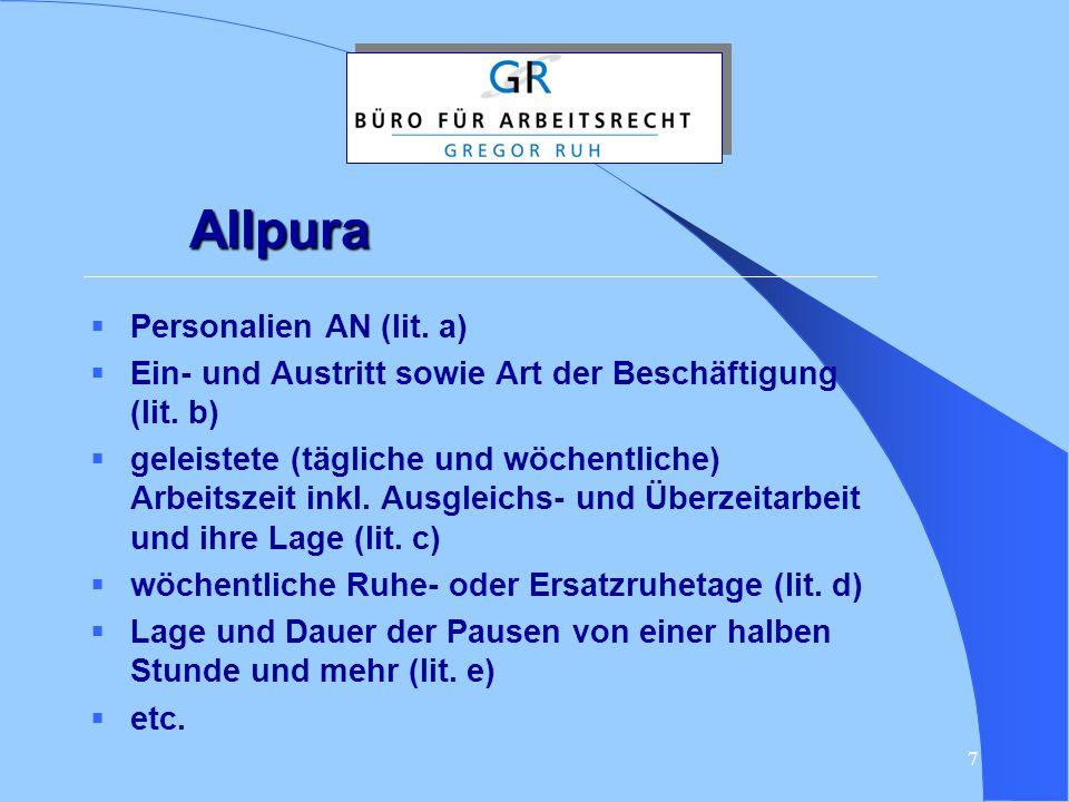 Allpura Personalien AN (lit. a)