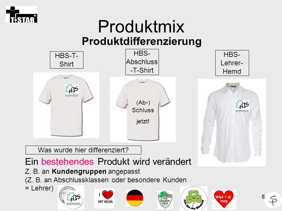 Produktmix Produktdifferenzierung