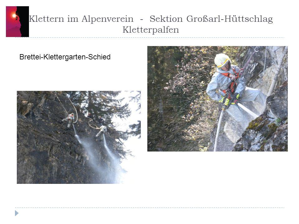 Klettern im Alpenverein - Sektion Großarl-Hüttschlag Kletterpalfen
