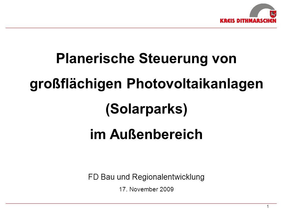 Planerische Steuerung von großflächigen Photovoltaikanlagen