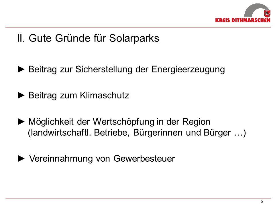 II. Gute Gründe für Solarparks