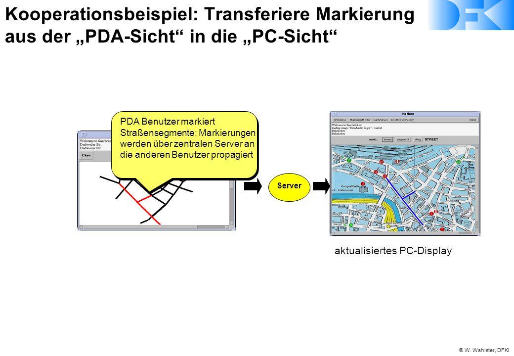 """Kooperationsbeispiel: Transferiere Markierung aus der """"PDA-Sicht in die """"PC-Sicht"""