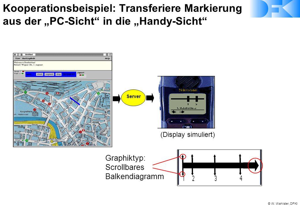 """Kooperationsbeispiel: Transferiere Markierung aus der """"PC-Sicht in die """"Handy-Sicht"""