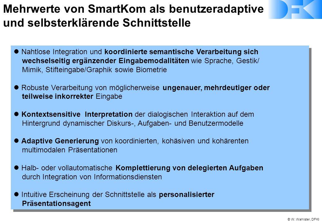 Mehrwerte von SmartKom als benutzeradaptive und selbsterklärende Schnittstelle