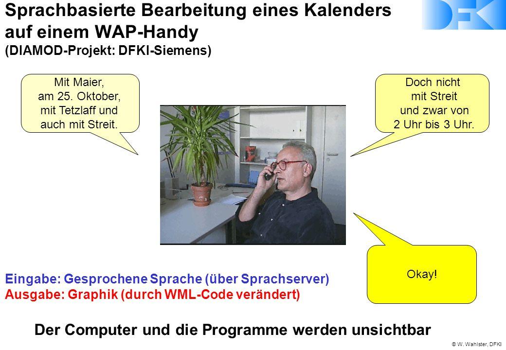 Sprachbasierte Bearbeitung eines Kalenders auf einem WAP-Handy (DIAMOD-Projekt: DFKI-Siemens)