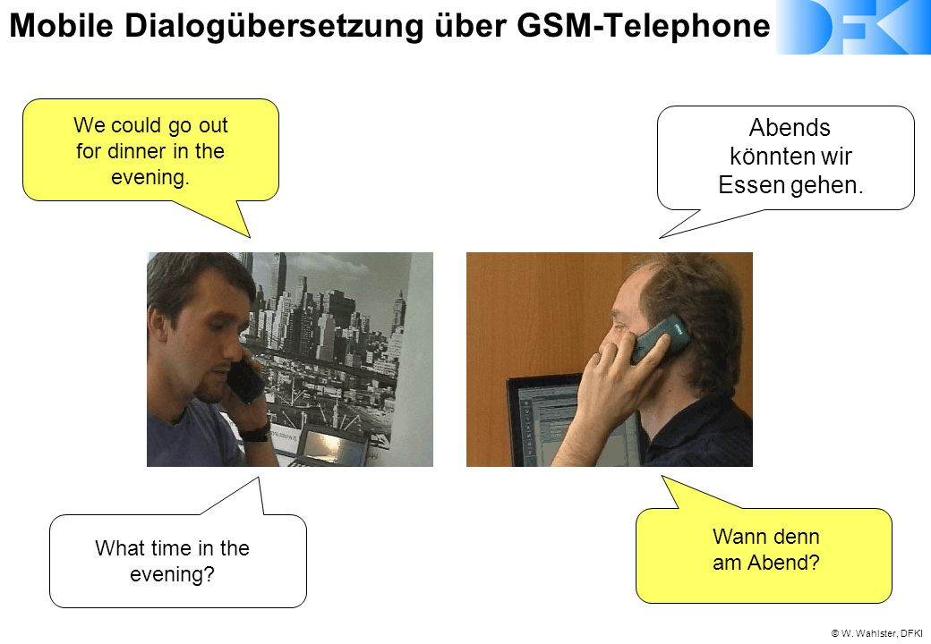 Mobile Dialogübersetzung über GSM-Telephone