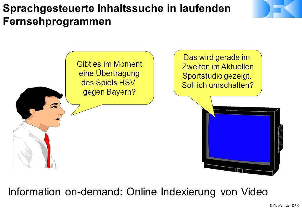Sprachgesteuerte Inhaltssuche in laufenden Fernsehprogrammen