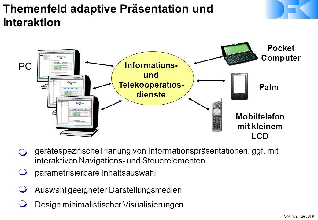 Themenfeld adaptive Präsentation und Interaktion