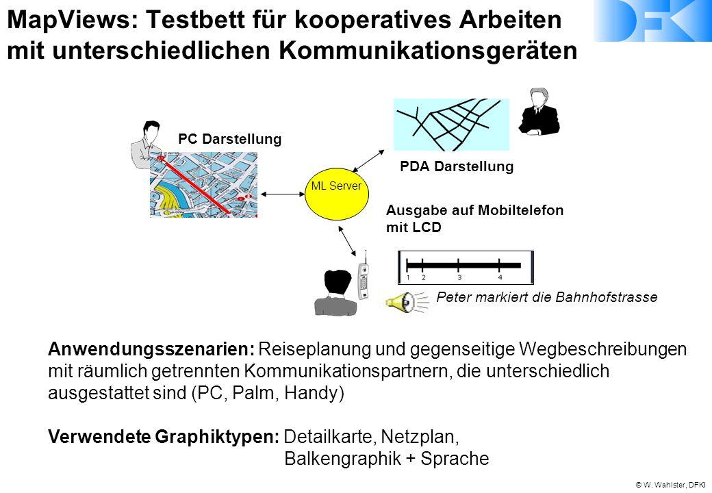 MapViews: Testbett für kooperatives Arbeiten mit unterschiedlichen Kommunikationsgeräten