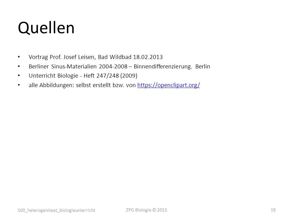 Quellen Vortrag Prof. Josef Leisen, Bad Wildbad 18.02.2013