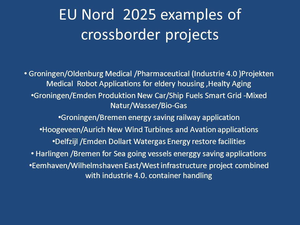 EU Nord 2025 examples of crossborder projects