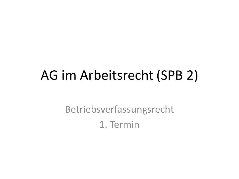 AG im Arbeitsrecht (SPB 2)