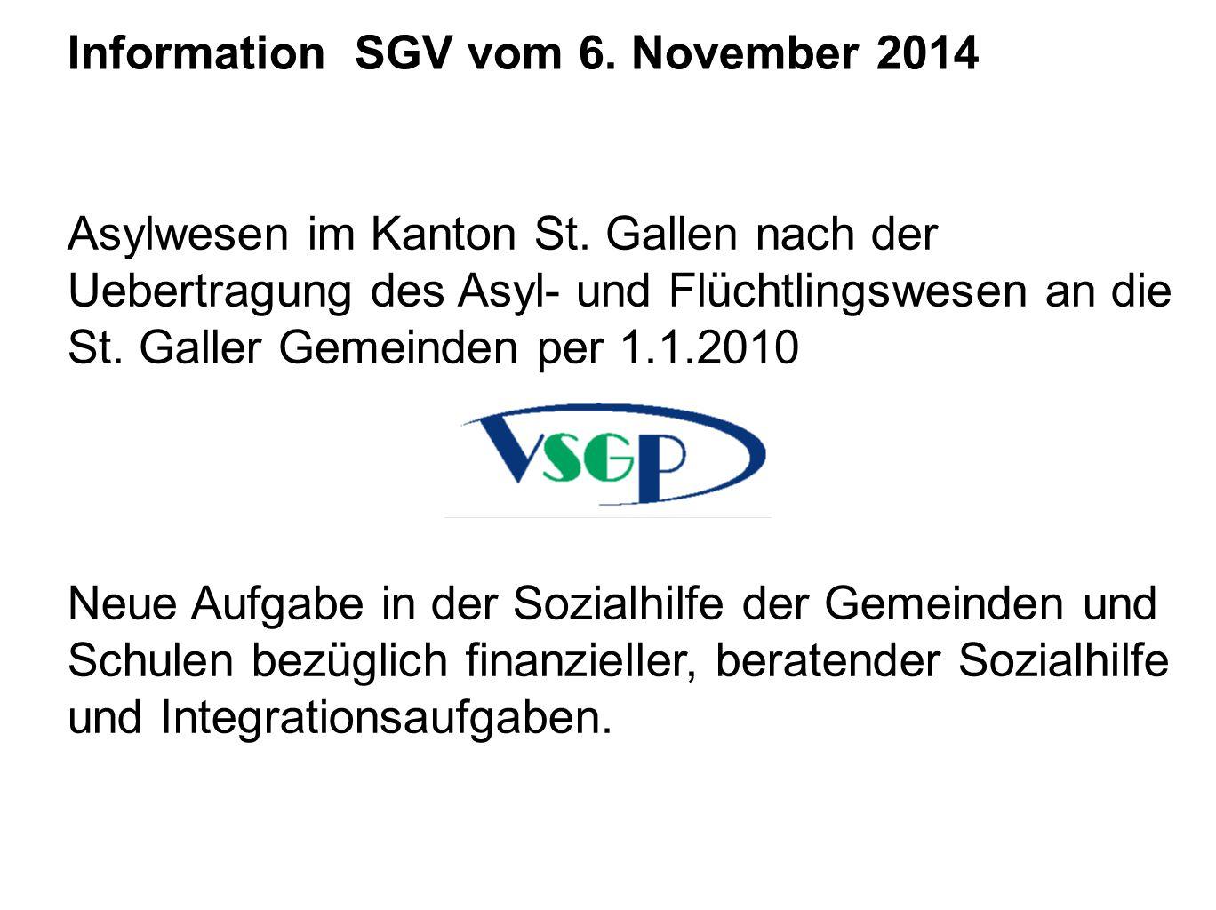 Information SGV vom 6. November 2014