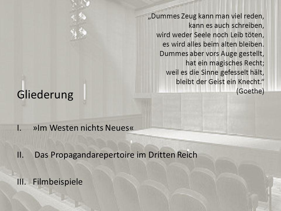 Gliederung »Im Westen nichts Neues«