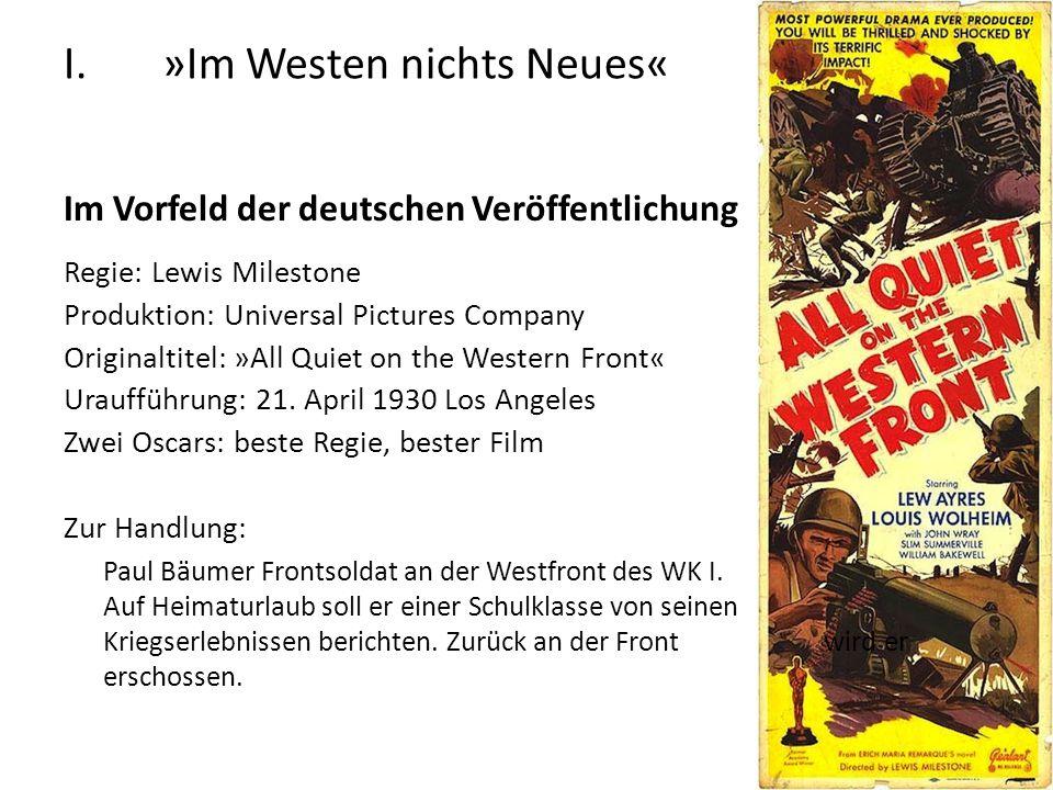 »Im Westen nichts Neues«
