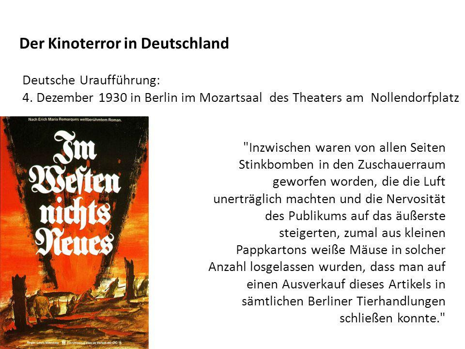 Der Kinoterror in Deutschland