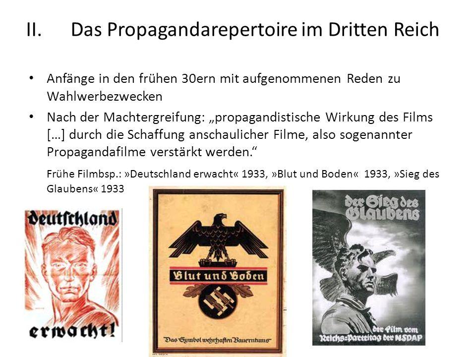 Das Propagandarepertoire im Dritten Reich