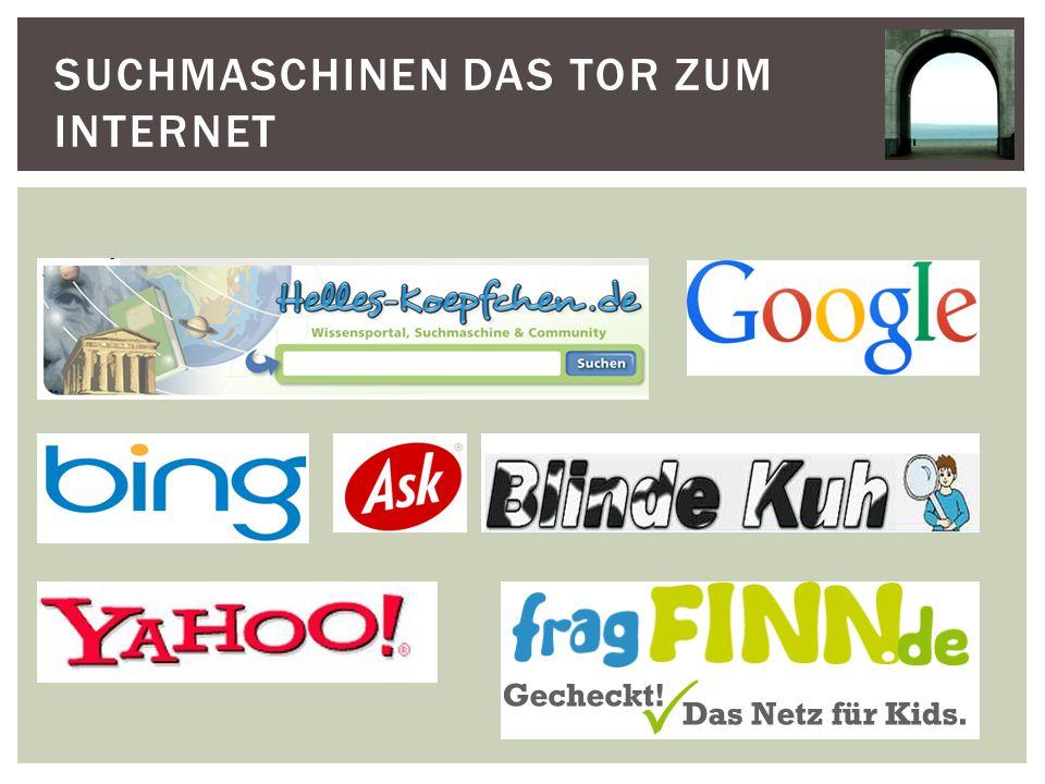 Suchmaschinen das Tor zum Internet