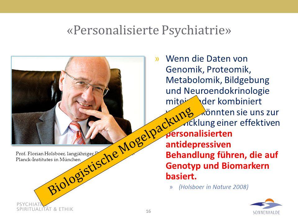«Personalisierte Psychiatrie»