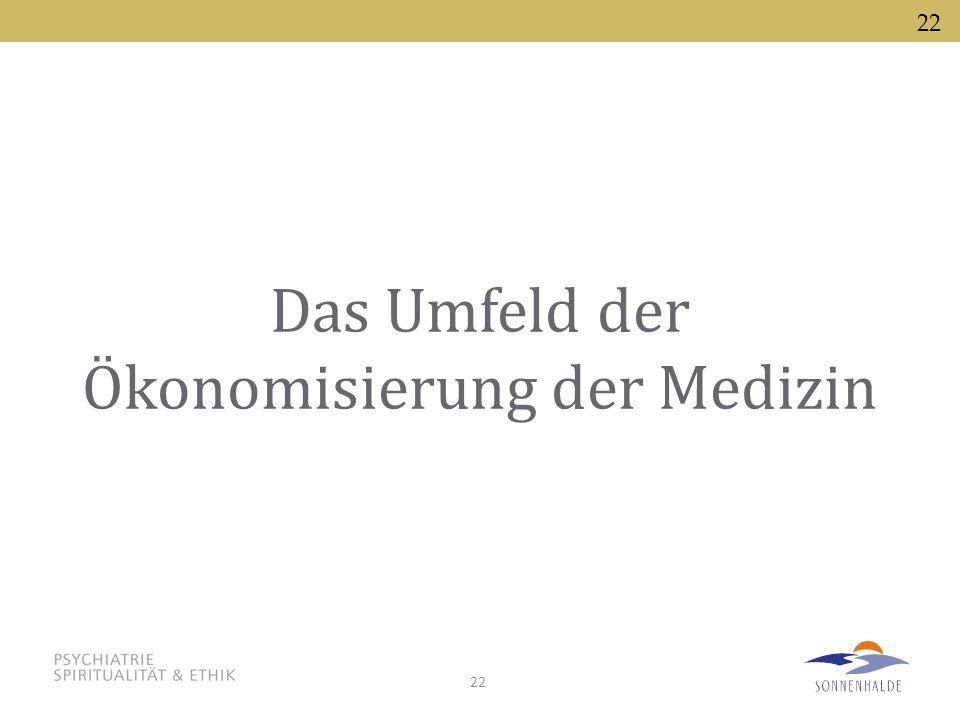 Das Umfeld der Ökonomisierung der Medizin