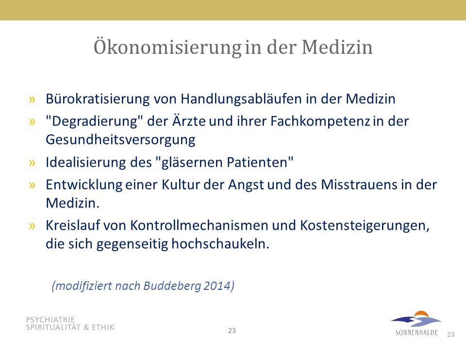 Ökonomisierung in der Medizin