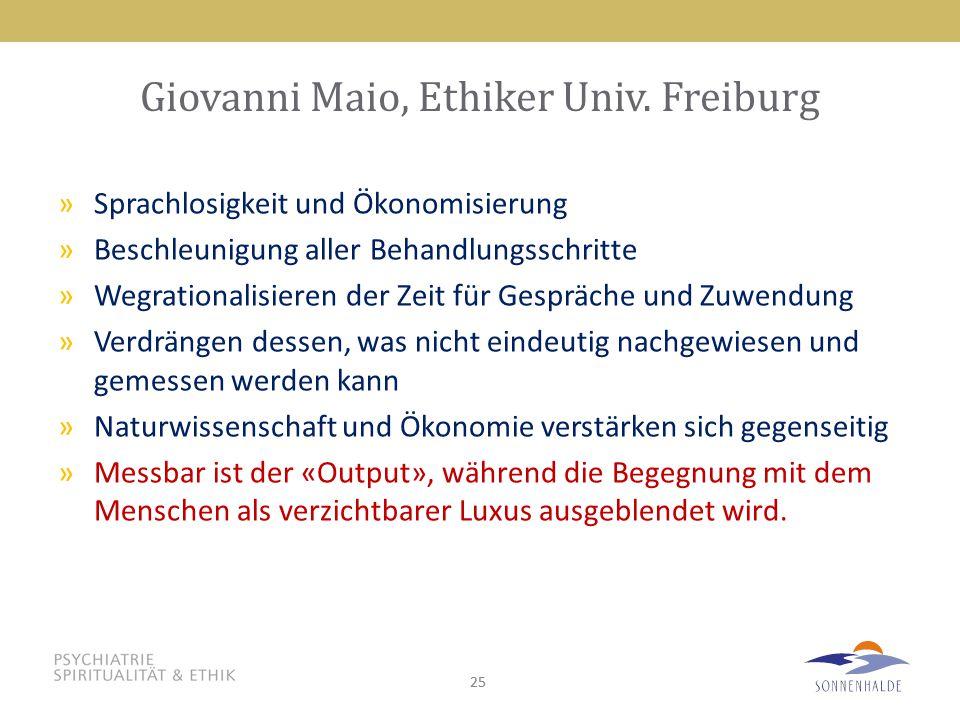 Giovanni Maio, Ethiker Univ. Freiburg