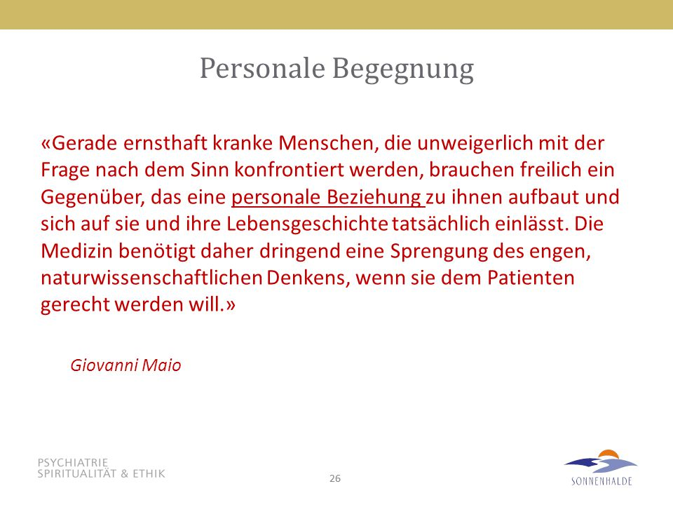 Personale Begegnung