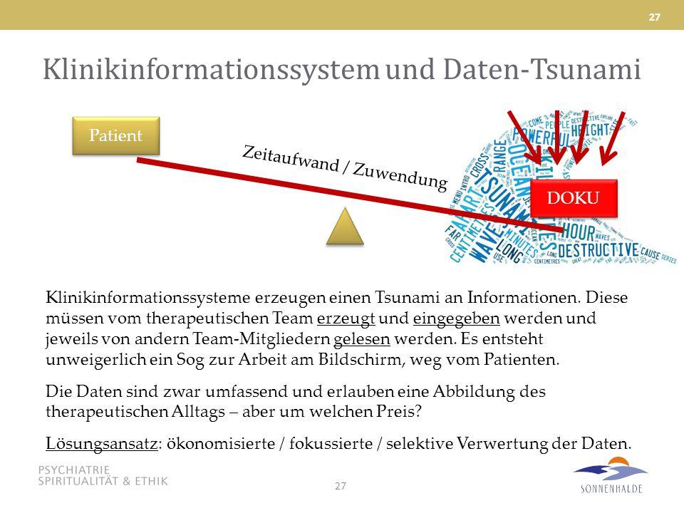 Klinikinformationssystem und Daten-Tsunami