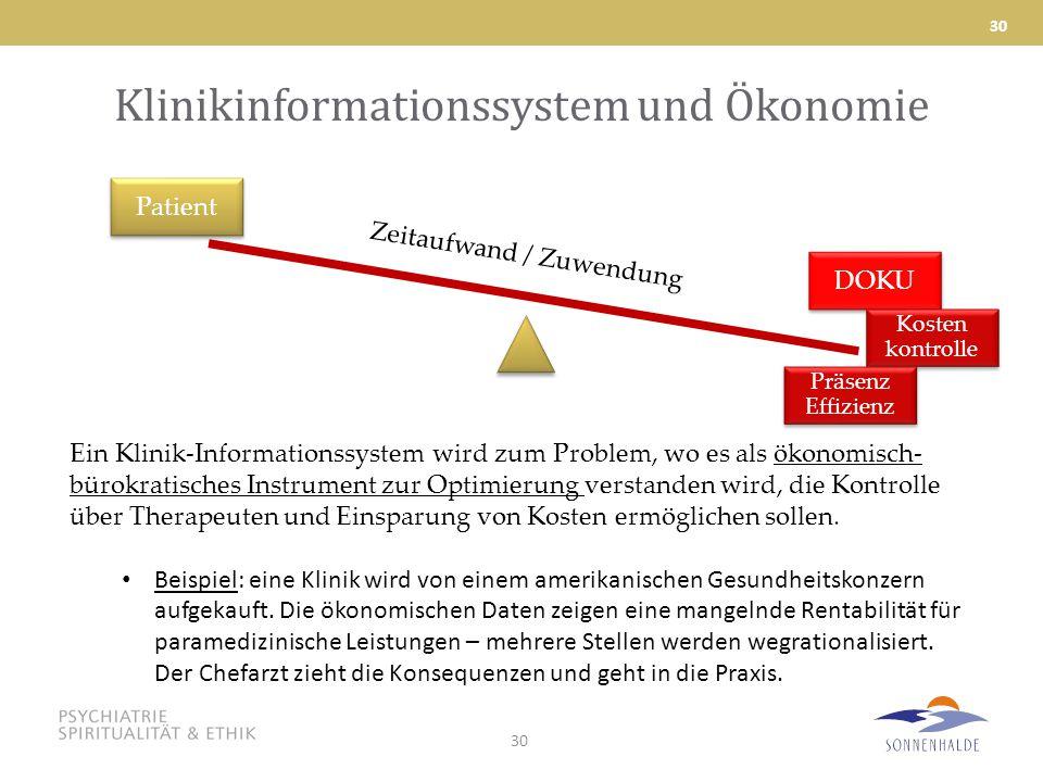 Klinikinformationssystem und Ökonomie