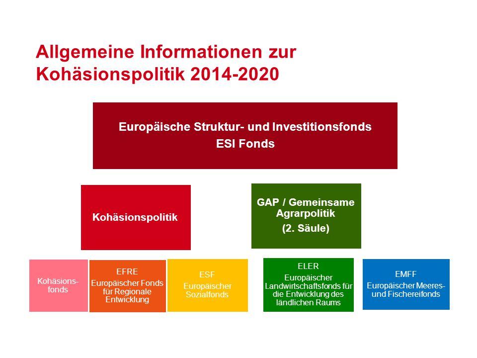 Allgemeine Informationen zur Kohäsionspolitik 2014-2020